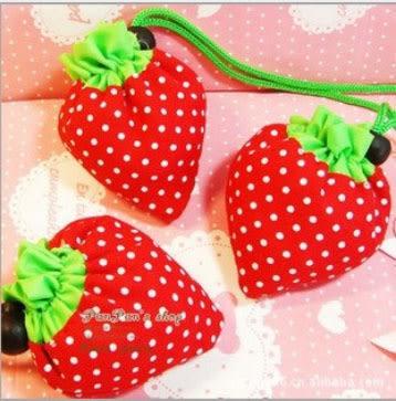 草莓購物袋草莓袋折疊袋子手提袋環保收納袋 【省錢博士】
