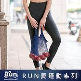 EASY SHOP-RUN-減壓護肌無縫彈力緊身褲-律動黑