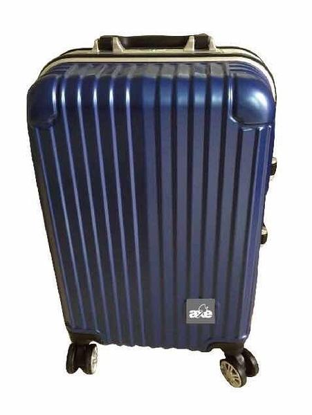 【釜牌 AXE】直紋20吋登機行李箱(寶藍色)