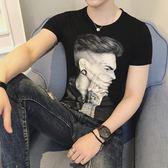 夏天男裝韓版潮流3D立體T桖短袖帥氣上衣服修身 KB1080【野之旅】