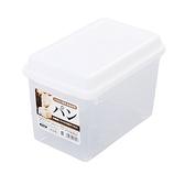 小禮堂 精工SANADA 日製 透明 吐司收納盒 保鮮盒 麵包盒 3.4L (白蓋) 4973430-01704