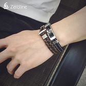 手鍊 韓版學生手環男士船錨鈦鋼硅膠運動手鐲女定制刻字情侶手飾品