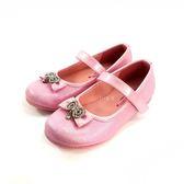精緻閃耀 水鑽蝴蝶結 亮色公主鞋《7+1童鞋》C658粉色(畢業季  花童)