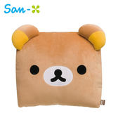 懶熊款【日本正版】拉拉熊 絨面 抱枕 靠墊 午睡枕 懶懶熊 Rilakkuma San-X 688611