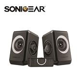 【南紡購物中心】【SonicGear】quatro2強效低頻振膜 多媒體音箱_黑灰GY