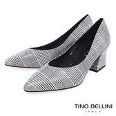 Tino Bellini 復刻摩登幾何千鳥紋V型尖楦跟鞋 _ 格紋 B83260