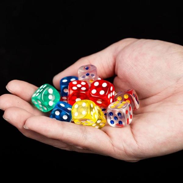 水晶透明骰子數字彩色ktv游戲道具