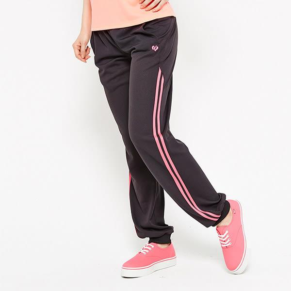 FIVE UP 極顯瘦舒適吸排針織長褲-紫