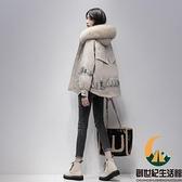 派克服羽絨服女冬短款白鴨絨小個子寬鬆外套【創世紀生活館】