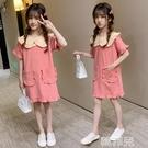 女童連身裙 女童公主裙兒童棉布裙子洋氣夏裝新款中大童娃娃領韓版短袖連身裙 韓菲兒