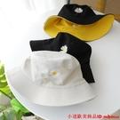 雙面戴刺繡鄒菊春夏大沿遮陽帽遮臉防曬太陽帽防紫外線漁夫帽