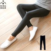 內搭褲--帥氣潮流個性休閒鬆緊腰頭超彈力絲滑薄款光澤內搭褲(黑L-5L)-R182眼圈熊中大尺碼