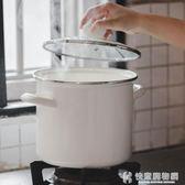 湯鍋日式4.7L高雙耳搪瓷鍋煮粥燉家用收納桶米桶 NMS快意購物網