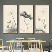 中國風沙發背景墻客廳玄關走道豎版裝飾畫新中式山水掛畫北歐壁畫