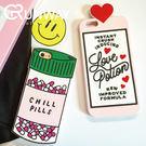 【R】愛情靈藥神藥 愛心字母藥丸 iPhone 7 硅膠手機殼 蘋果6 6s plus 7plus手機殼 全包邊軟殼 保護套