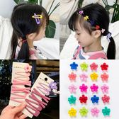 兒童髮夾韓國兒童頭飾網紅側邊同款夾子女童彩色小花發夾女孩發卡發飾 童趣屋