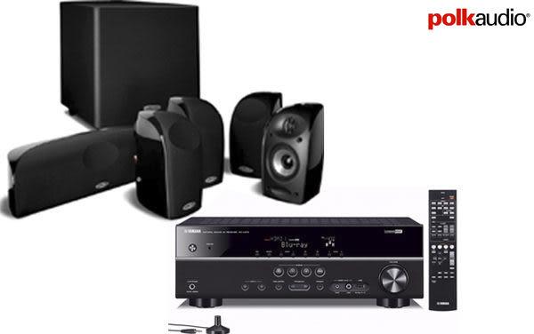 *亞哥音響* YAMAHA RX-V373 +POLK AUDIO TL-2600喇叭組  小劇院也有大音場