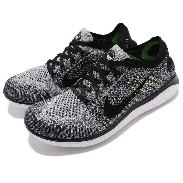 【五折特賣】Nike 慢跑鞋 Wmns Free RN Flyknit 2018 灰 黑 飛線編織 女鞋 運動鞋【ACS】 942839-101