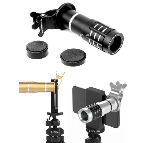 PICKOGEN 望遠鏡 12X 鏡頭 鋁合金 自拍神器 光學 定焦 變焦 手機 夾式
