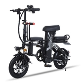 折疊電動自行車小型車助力鋰電瓶車超輕便攜親子車 【快速出貨】生活館