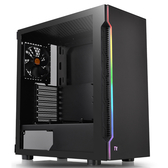 Thermaltake 曜越 H200 TG RGB ATX 強化玻璃 中直立式機殼 黑色CA-1M3-00M1WN-00