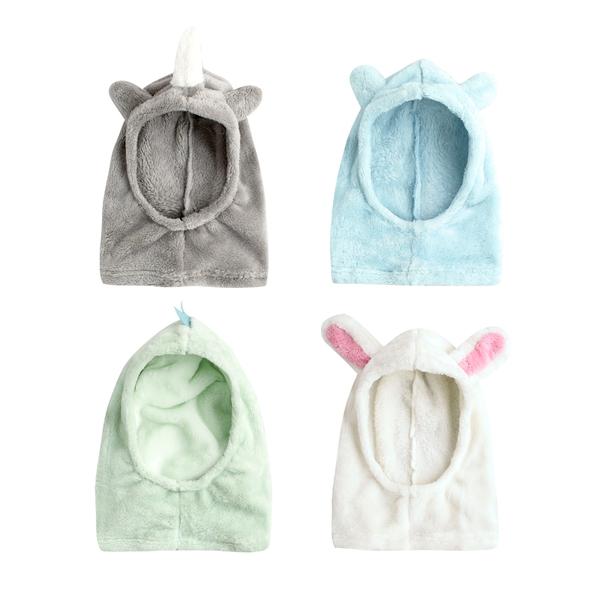 小童保暖動物耳朵造型連脖圍帽 92018