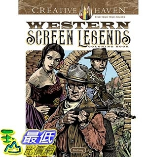 暢銷畫冊書 Creative Haven Western Screen Legends Coloring Book (Adult Coloring) Paperback