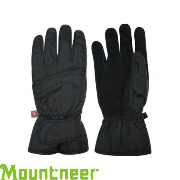 【Mountneer 山林 PRIMALOFT防水觸控手套《黑/灰》】12G07/防風/可觸控/騎車手套★滿額送