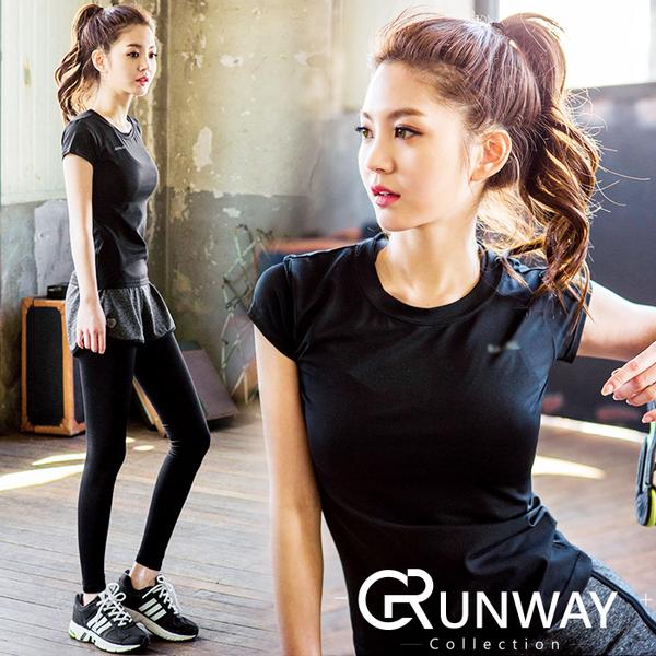 簡約休閒 瑜珈短袖上衣 運動T恤 彈力健身上衣 吸濕排汗 舒適百搭 健身跑步 顯瘦流行穿搭 休閒服