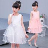 女童連衣裙2018新款夏裝3歲兒童4粉色洋氣裙子5中大童6夏季公主裙