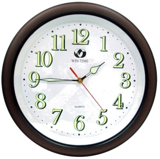 13吋咖啡夜光時鐘 時鍾 掛鐘