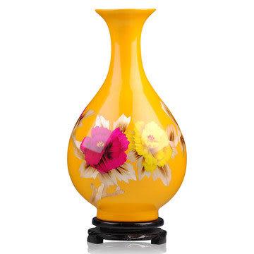 陶瓷器 花瓶 黃色玉壺春