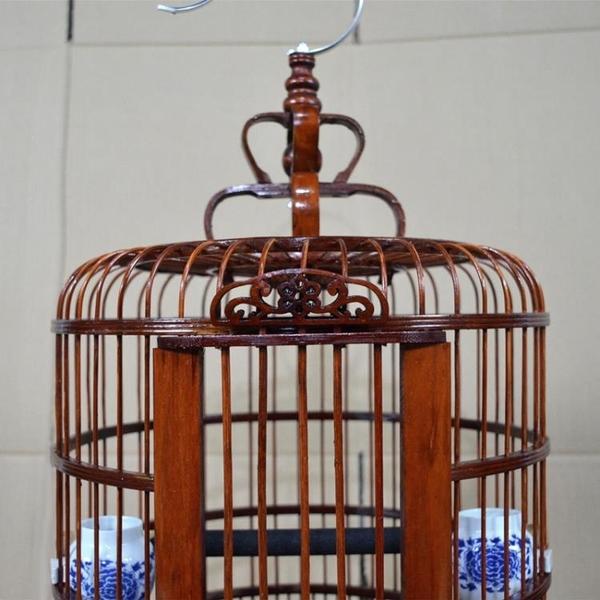 鳥籠子畫眉竹鳥籠復古老料竹鳥籠