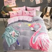 極柔加厚法蘭絨床包四件組-雙人-寧靜