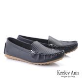 2019秋冬_Keeley Ann我的日常生活 舒適壓紋莫卡辛鞋(黑色)