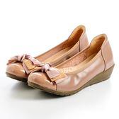 GREEN PINE 華麗水鑽蝴蝶裝飾娃娃鞋-粉色