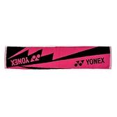 Yonex Towel [AC10029TR122] 毛巾 運動 羽球 吸汗 舒適 柔軟 22x100cm 桃紅