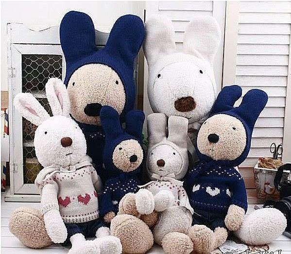 【發現。好貨】日本正品 le sucre 砂糖兔 法國兔娃娃 (愛心毛衣45公分款)