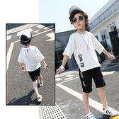 2018新款韓版童裝休閒百搭運動夏季時尚透氣短袖兩件套 js626『科炫3C』
