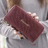 手拿包 女士零錢包長款拉大容量手拿包雙層軟皮手機正韓小卡包