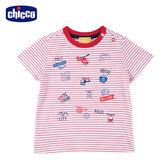 chicco-翱翔-條紋短袖上衣