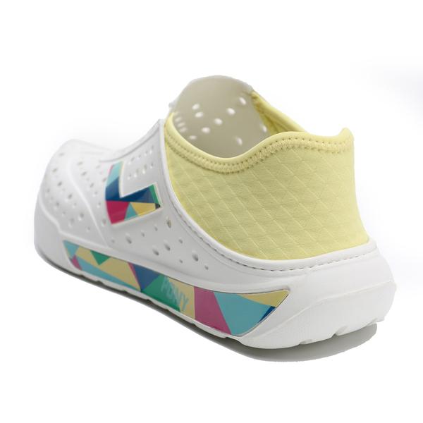 PONY 水鞋 白黃 彩色 幾何LOGO 後跟可踩 洞洞鞋 水陸兩用 情侶 男女 (布魯克林) 02U1SA02YW