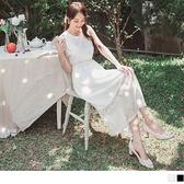 《DA7545》輕婚紗系列.漸層鏤空蕾絲彈力收腰長洋裝--適 XL~6L OrangeBear