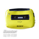 會員禮_SONY 70週年 運動造型Walkman收納包(黃)