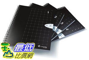 [106美國直購] Livescribe ANX-00005 筆記笨 A5 Grid Notebook #1-4 (4-pack)