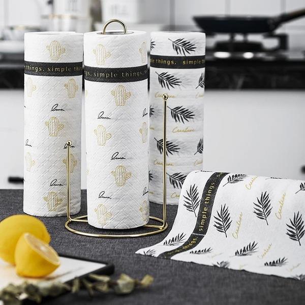 可水洗廚房紙廚房專用吸水吸油紙懶人擦油擦手抹布印花紙巾實惠裝
