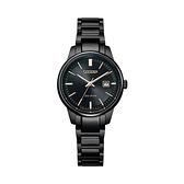 【Citizen星辰】PAIR對錶系列光動能時尚簡約腕錶-都會黑/EW2597-86E/台灣總代理公司貨享兩年保固