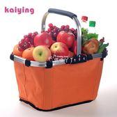 野餐籃 購物籃手提便攜超市購物提籃折疊環保手提買菜籃 俏腳丫