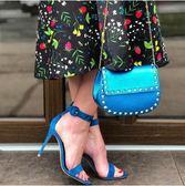 涼鞋 一字帶涼鞋細跟性感一字扣高跟鞋百搭小清新 巴黎春天