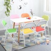 摺疊椅 便捷摺疊椅子家用餐椅靠背椅辦公椅會議椅培訓椅電腦椅宿舍椅摺疊凳子T 多色 雙12提前購